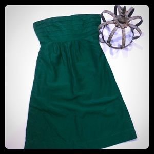 Banana Republic Petites Green Strapless Dress 6P